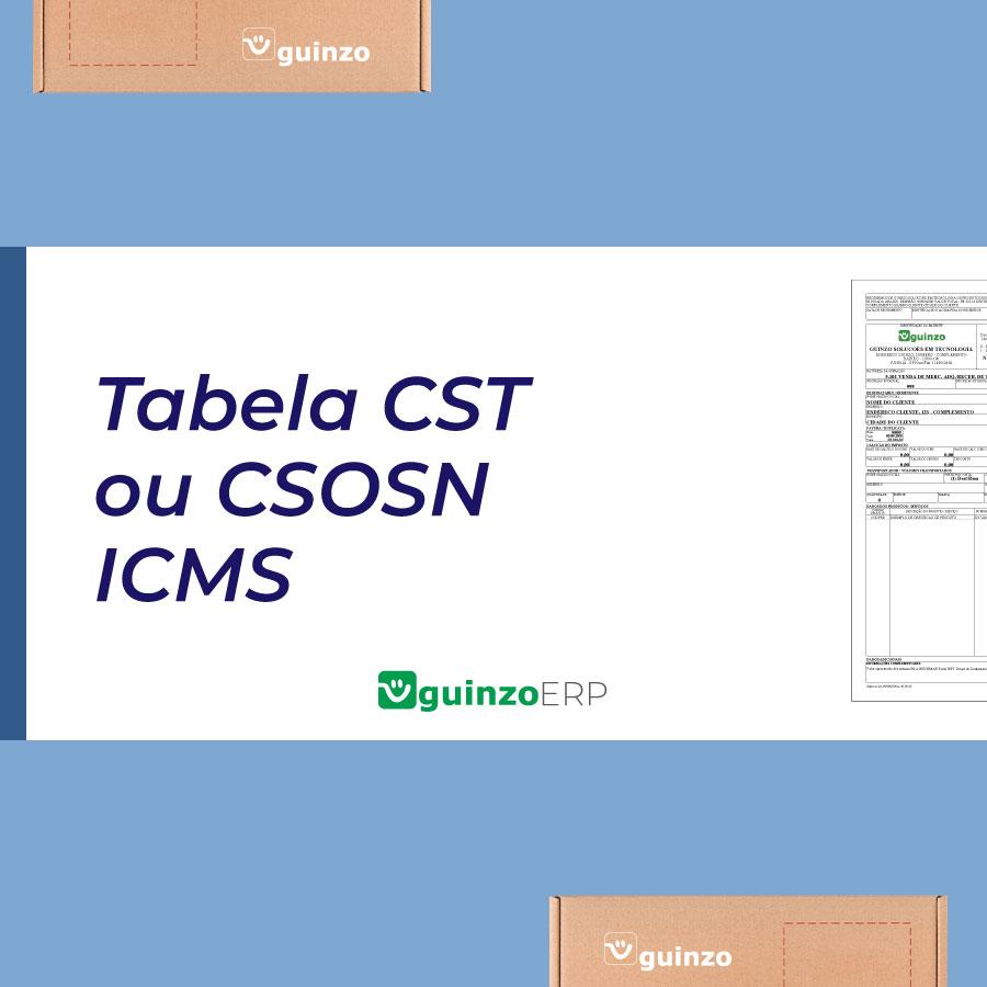 Imagem: Tabela CST ou CSOSN de ICMS