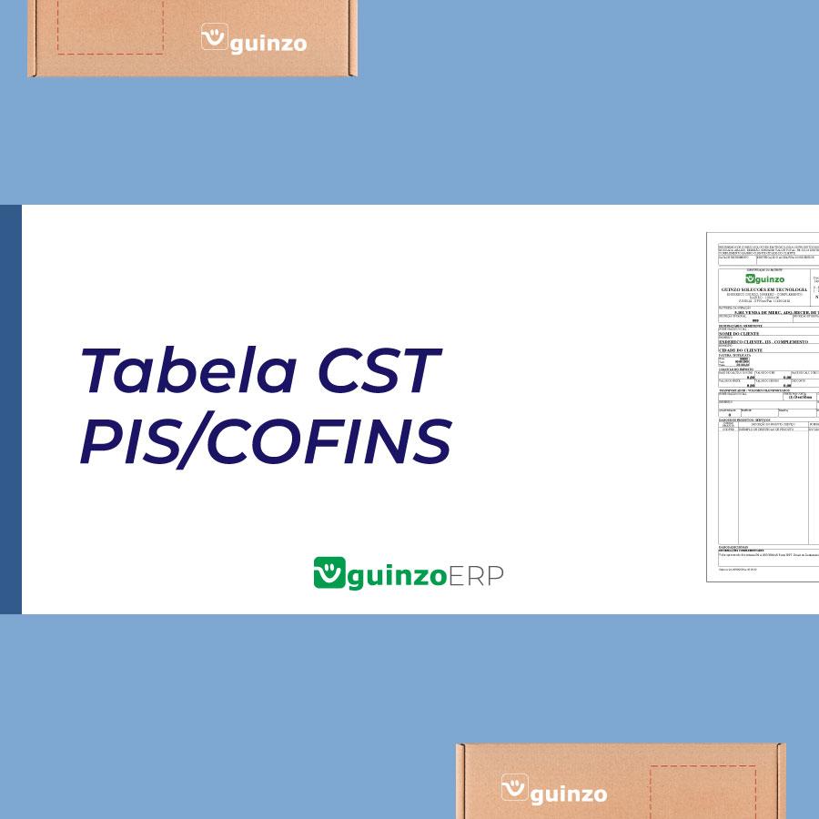 Imagem: Tabela CST PIS e COFINS