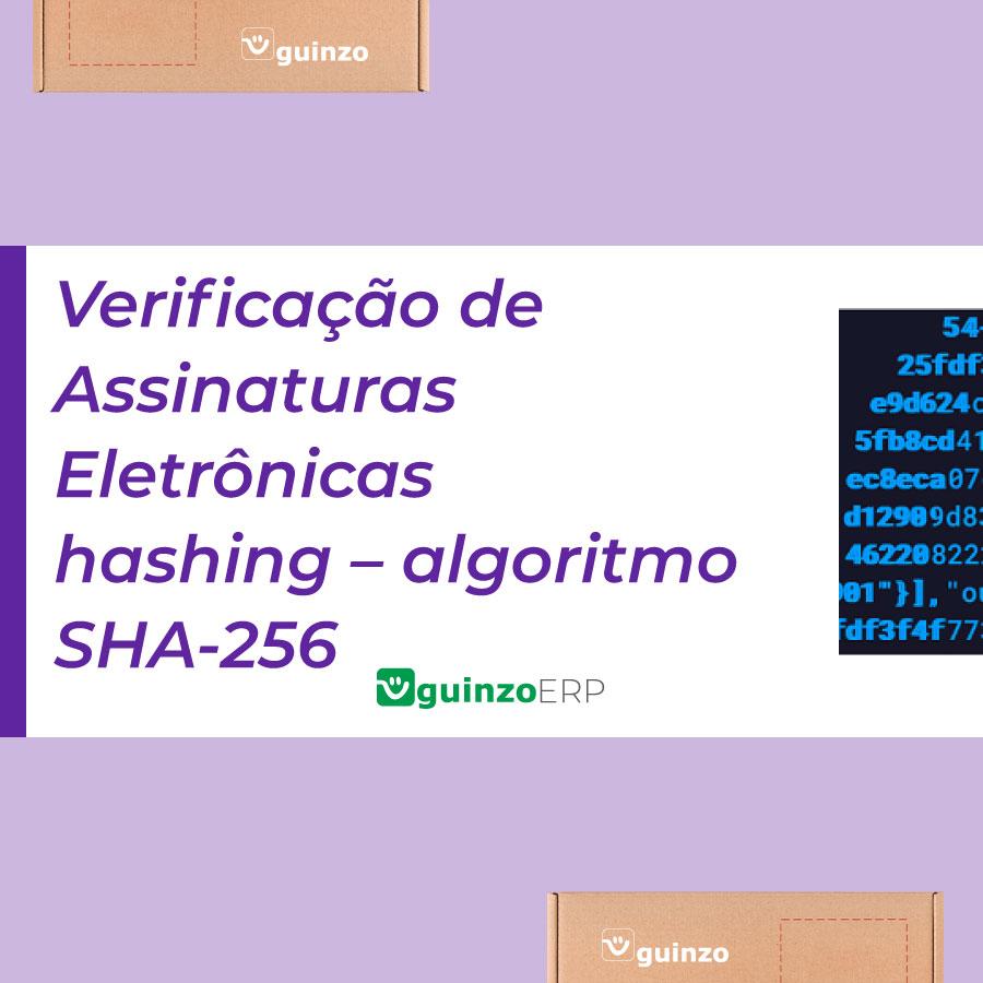 Imagem: Verificação de assinaturas eletrônicas hashing - algoritmo SHA-256