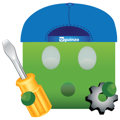 Mascote Guinzo Suporte