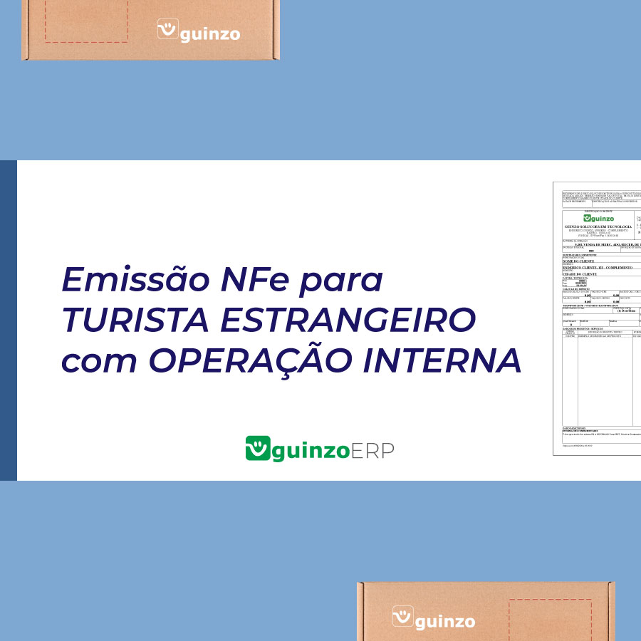 Imagem: Emissão de nota fiscal para estrangeiro com operação interna